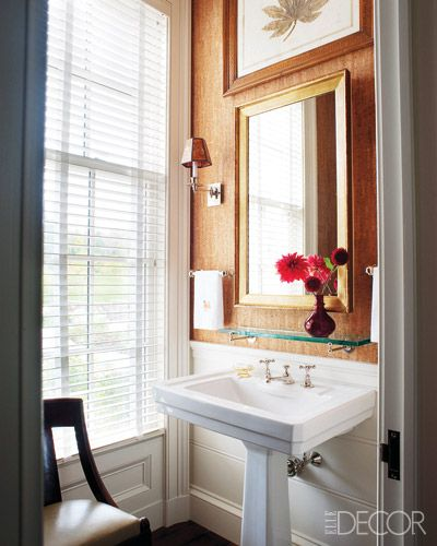 Small Bathrooms Elle Decor 275 best beautiful interiors - powder rooms images on pinterest