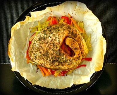 Σολωμός στη λαδόκολλά για τις μέρες πικ νικ Solmon fish recipe - perfect for a pic nic