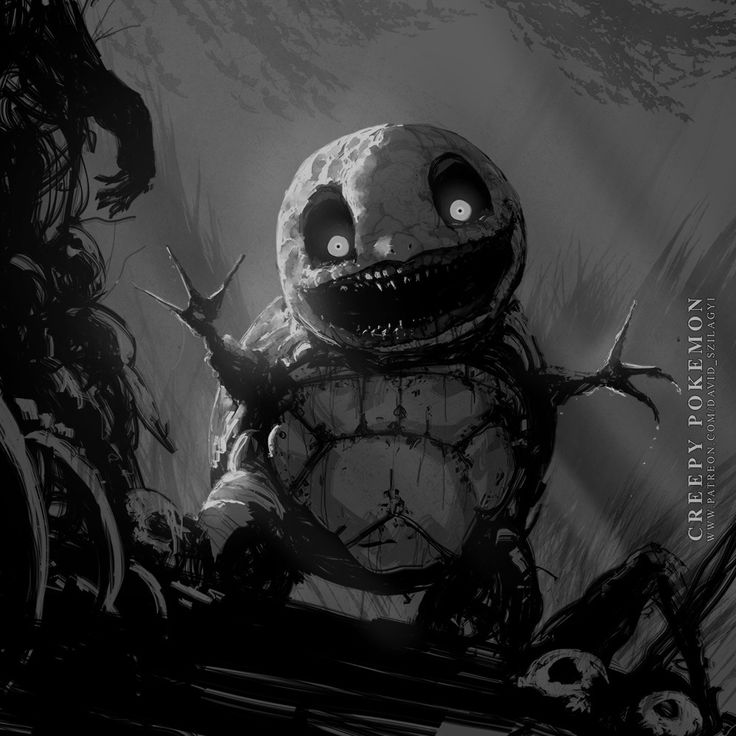 ArtStation - Creepy Pokemon: 007 Squirtle, David Szilagyi