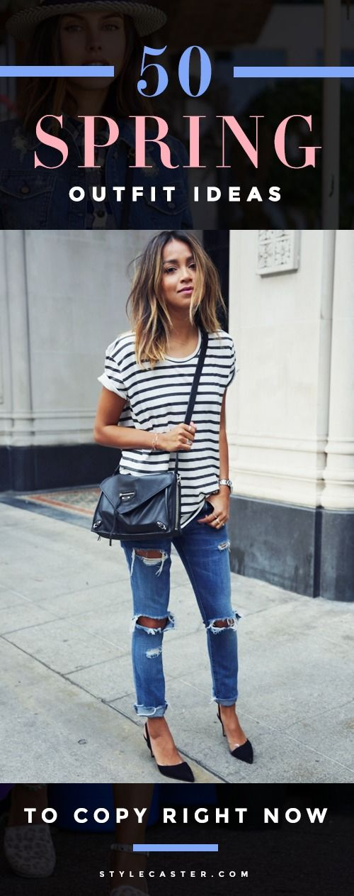 50 Perfect Spring Outfit Ideas To Copy Right Now - click though for the ultimate guide to Spring fashion, straight from top bloggers and street style stars| StyleCaster.com