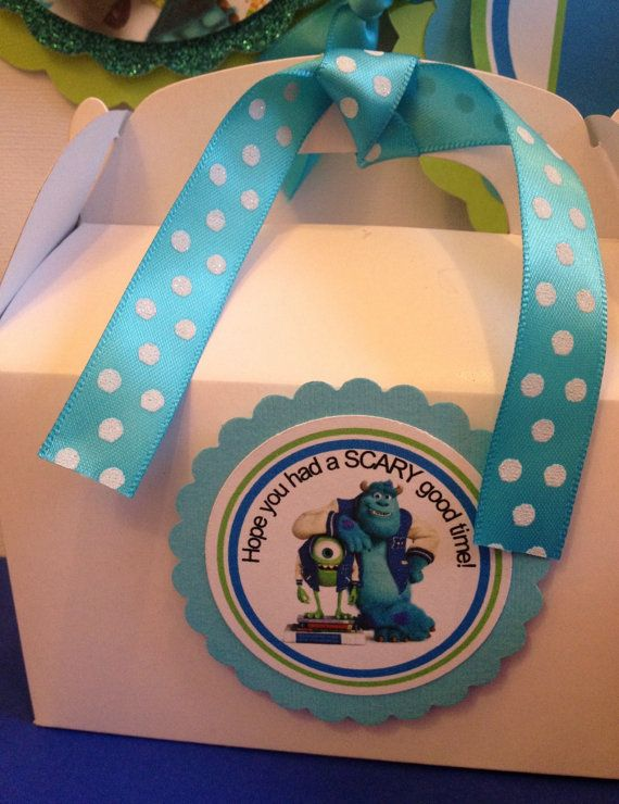 Monsters University favor tags, Monster University cupcake toppers, Monster University birthday banner on Etsy, $7.75