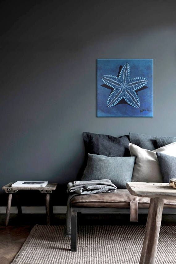 Starfish in blue II.