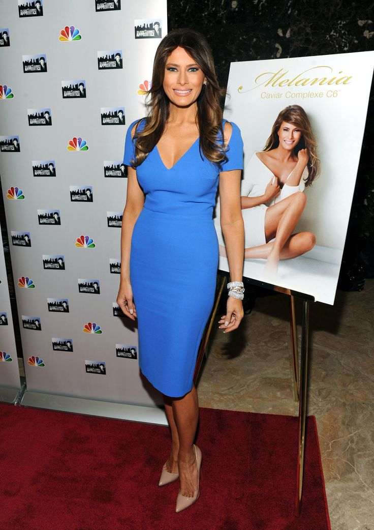 NEW YORK, NY - APRIL 09:  Melania Trump attends the 'Celebrity Apprentice All-Star' event at Trump Tower on April 9, 2013 in New York City.  (Photo by Craig Barritt/Getty Images) via @AOL_Lifestyle Read more: http://www.aol.com/article/lifestyle/2016/11/10/melania-trump-style-/21603454/?a_dgi=aolshare_pinterest#fullscreen