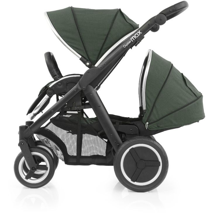 BabyStyle Oyster Max 2 Black Lie Flat Tandem Stroller (Olive Green) from preciouslittleone.co.uk 💚 my beautiful pram 💚