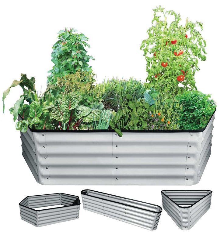 Birdies 2.2 x 1.3 x 0.8m Corrugated Raised Garden Kit