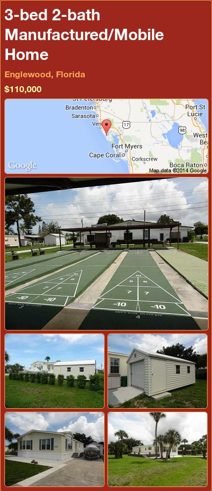 3 Bed 2 Bath Manufactured Mobile Home In Englewood Florida 11000000 PropertyForSale RealEstate Magic Properties