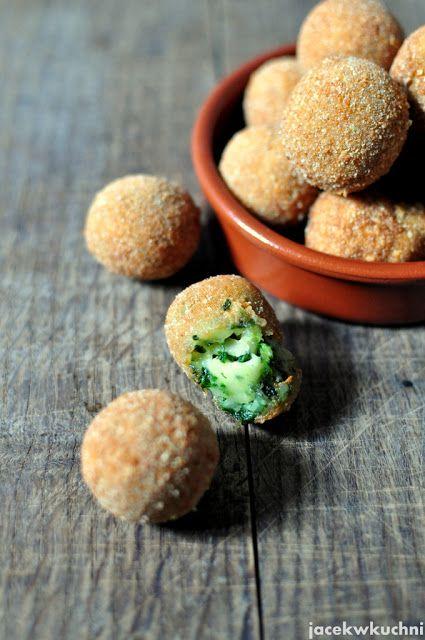 jacek w kuchni - blog kulinarny: Kulki serowe ze szpinakiem