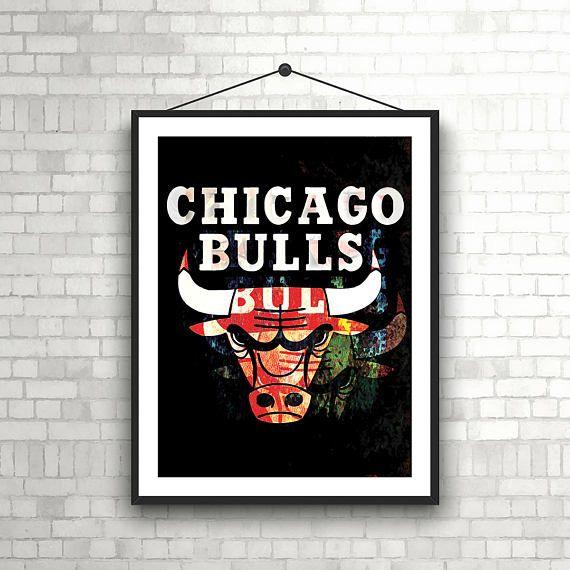 Chicago Bulls Poster Chicago Bulls Print Basketball poster