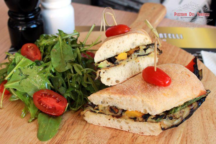 Verdure -  ciabatta με μαριναρισμένα λαχανικά ψημένα στο grill & εξαιρετικό παρθένο ελαιόλαδο