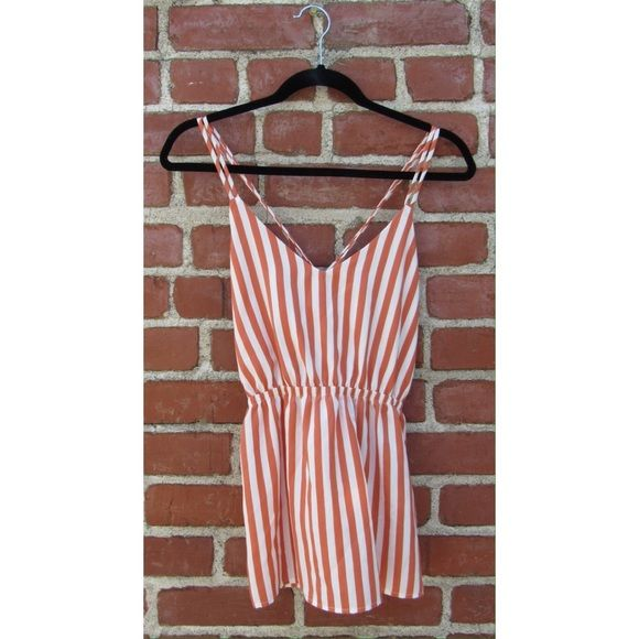 Orange & white striped strappy top Gorgeous orange & white striped top. The straps intertwine in the back. My Story Tops