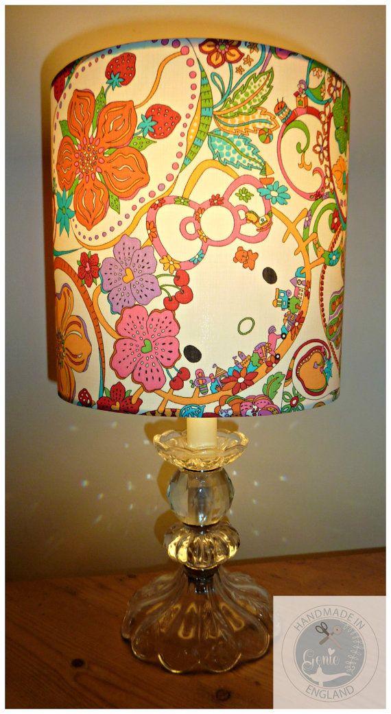 Liberty of London Hello Kitty Tana Lawn 20 cm Lampshade on Etsy, $60.46