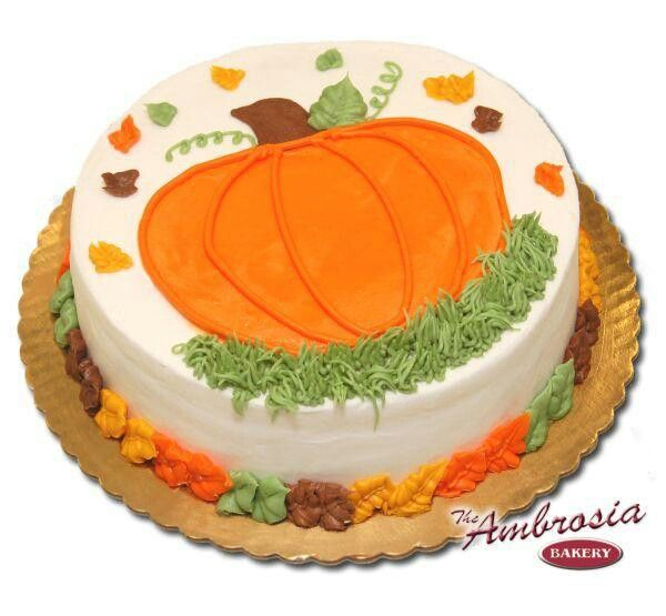 Thanksgiving Cake or Autumn or Fall.
