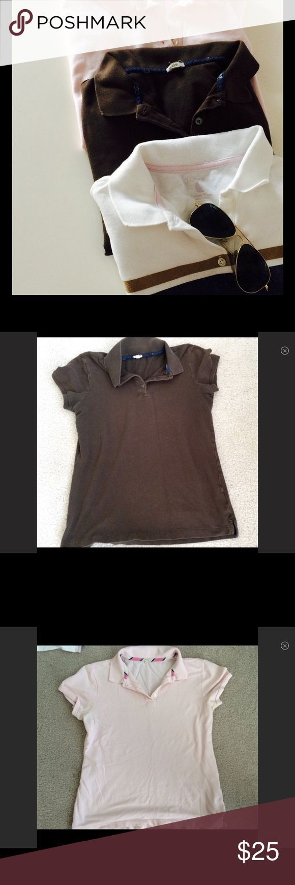 Bundle of three JCrew Polo Shirts three basic Polos by JCrew. Slimmer ladies's match.....  See even more by visiting the picture link