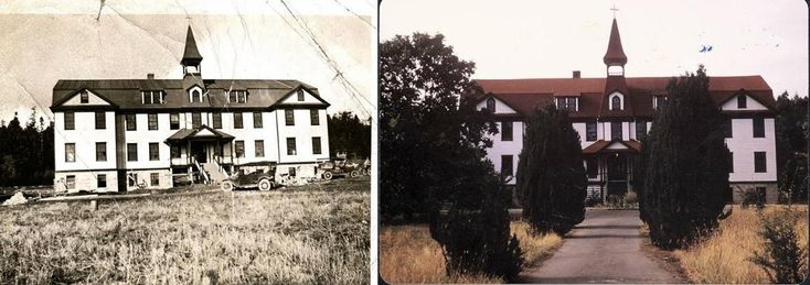 Left, Providence Farm in 1921. Right, Providence Farm in 1980. (Courtesy of Sisters of St. Ann), National Catholic Reporter, January 2015