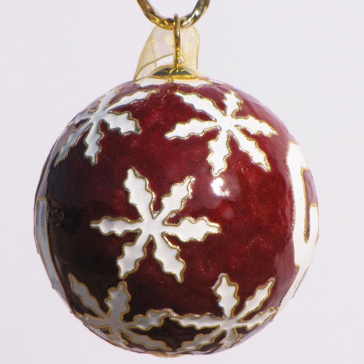 Officially licensed Oklahoma University, handcrafted, 24k gold plated cloisonne ornament - www.KittyKeller.com