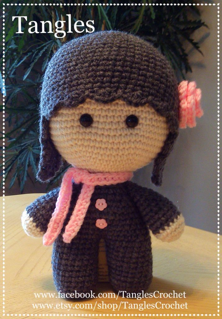 CROCHET - BIG HEAD DOLL - BABYDOLL YO-YO - (TANGLES CROCHET) - Heather Rose Big…