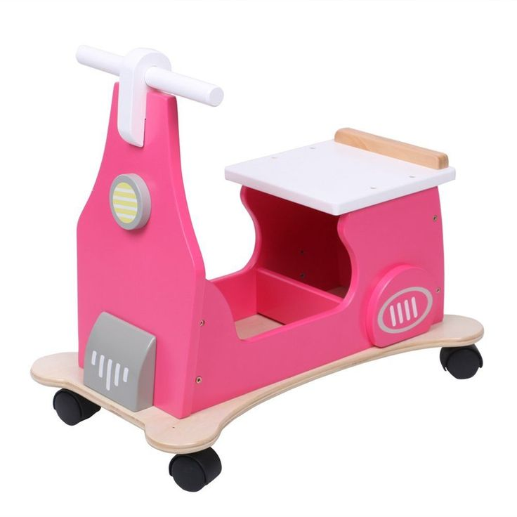 Hessie Baby Walker Toy Multifunction Wood Pink Quad Scooter Kids Christmas Gifts