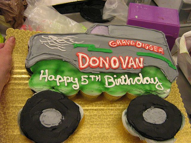 monster truck cupcake cake - Google Search For Mason's birthday