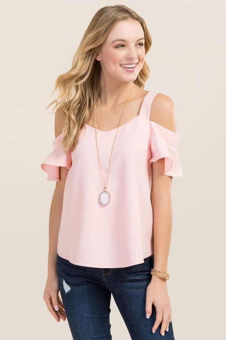 Fawn Cold Shoulder Sweetheart Top
