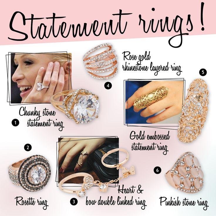 Achilleas accessories - Statement rings!