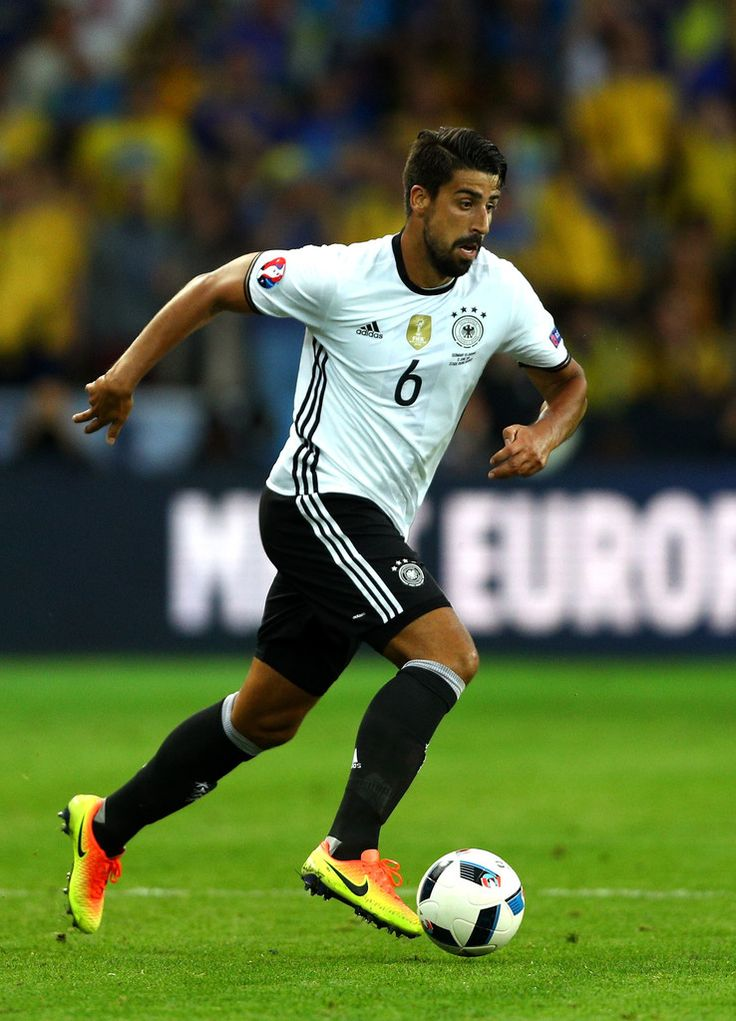 Sami Khedira of Germany in action during the UEFA EURO 2016 Group C match between Germany and Ukraine at Stade Pierre-Mauroy on June 12, 2016 in Lille, France.