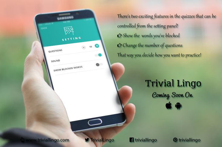 Some of our exciting features are controlled from the settings screen! :) #TrivialLingo #ComingSoon