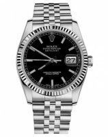 Rolex Datejust 36mm Acier Noir Cadran Jubilee Bracelet 116234 BKSJ
