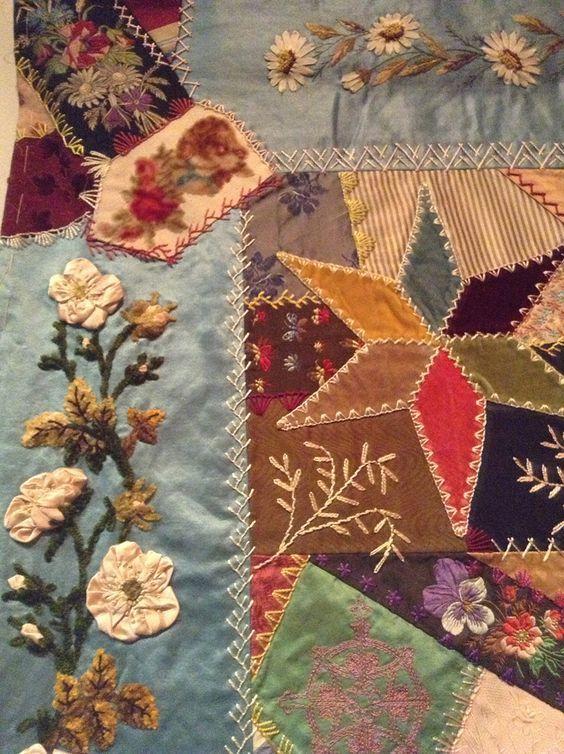 85 best Bolsa images on Pinterest | Crazy patchwork, Crazy quilt ... : antique crazy quilt - Adamdwight.com