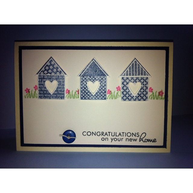 Card Making Ideas New Home Part - 46: New Home Card Love This Papertrey Ink Stamp Set !