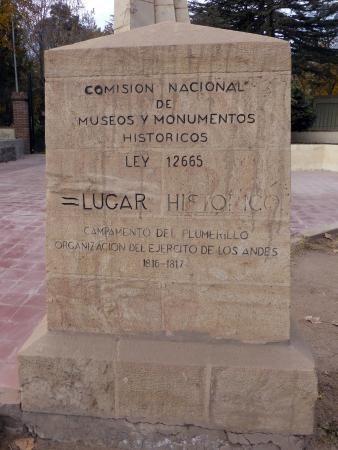 LUGAR HISTORICO / CAMPAMENTO DEL PLUMERILLO