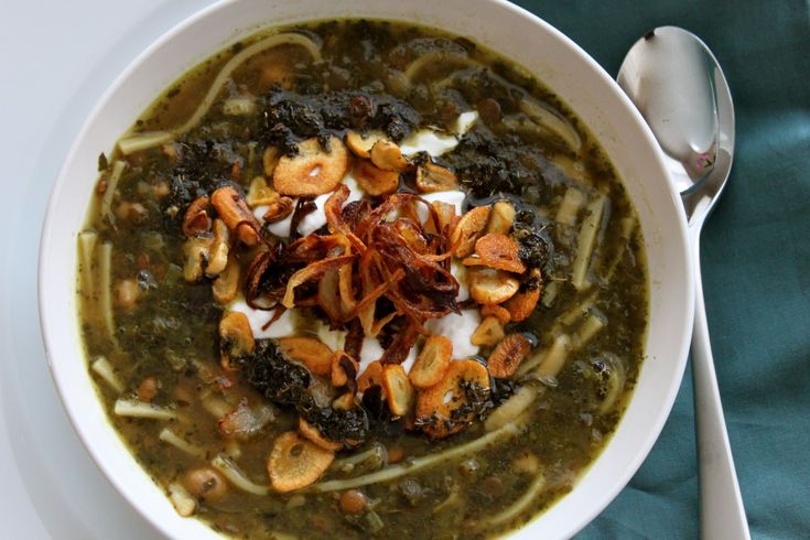 asheh reshteh- persian food Aash-e Reshteh: hearty noodle soup