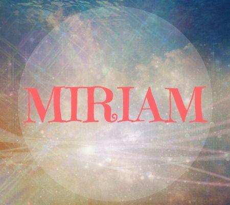 Miriam name art