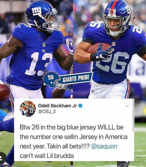 wholesale dealer f7c78 7ab64 Odell Beckham Jr. on how well he thinks Saquon Barkley ...