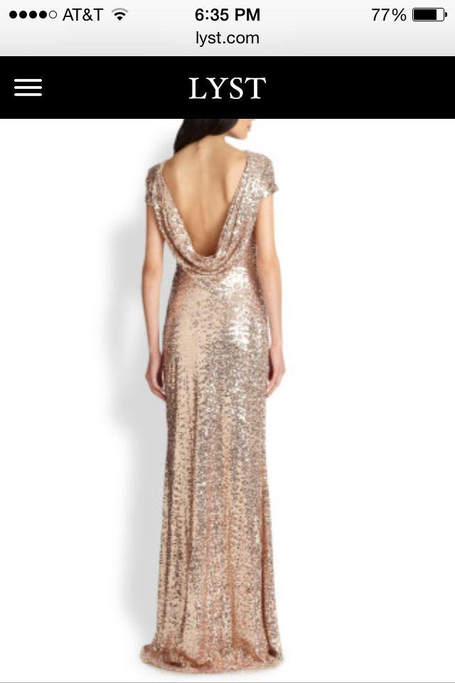 Gold bridesmaid dress!