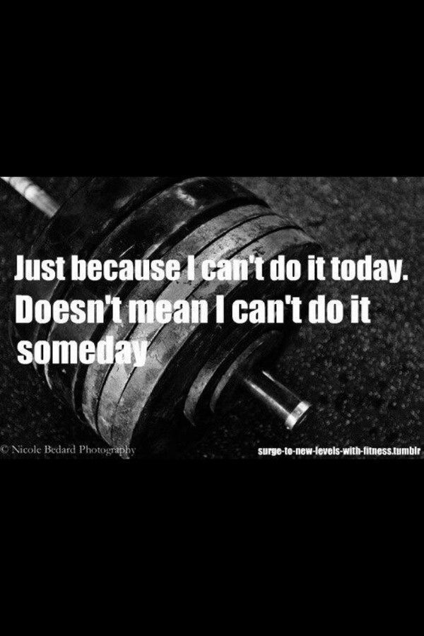 Funny Workout Quotes :Just Because I Can't Do It Today... - Quotes Daily | Leading Quotes Magazine & database, we provide you with top quotes from around the world https://link.crwd.fr/Myv