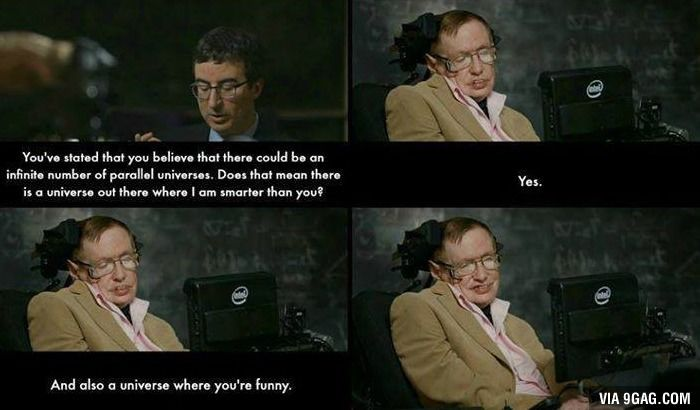 John Oliver Gets Owned By Stephen Hawking