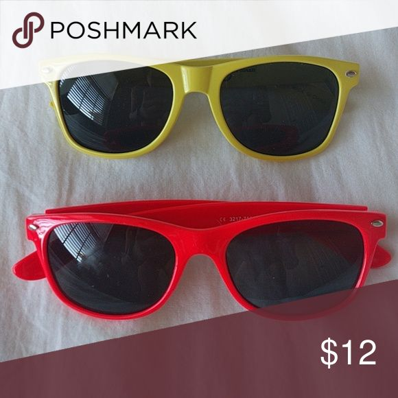 Yellow and orange wayfarer sunglasses Sunglasses x2 no scratches. In perfect condition PacSun Accessories Sunglasses