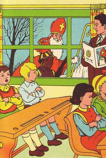 Vintage print Sinterklaas.