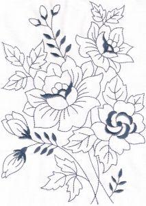 Machine Embroidery Designs --- Vintage Florals 01
