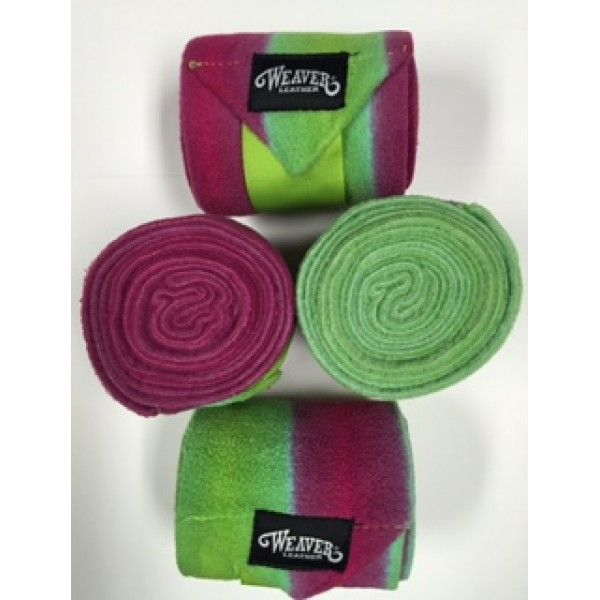 Bandages polo Weaver Ombragés Lime-Rose-Turquoise