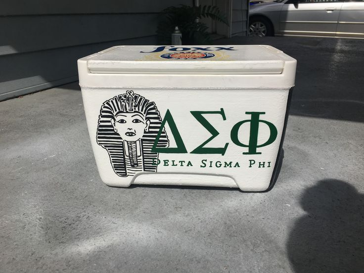 Delta sigma phi painted fraternity cooler