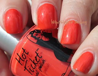 Hot Ticket by the Balm in Orange You Glad You're Not Blue! Click thru for swatches and review.