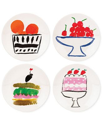 What's in my wedding registry?  kate spade new york all in good taste Set of 4 Stoneware Appetizer Plate Set