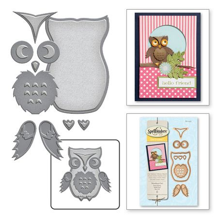 Spellbinders® takes adorable to the next level with our Woodland Collection. Let your imagination wander through a whimsical world with our Woodland inspired shapes. Create cute Woodland owl that can be used in so many creative ways. Perfect for Cards, Gifts, Parties, Scrapbook Pages, and More!