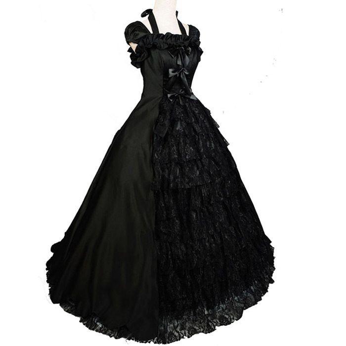 Aliexpress.com: Beauty Ease Co., Ltdより信頼できる コスチュームマジック サプライヤからノースリーブの衣装黒南部ベルゴスロリドレスパーティービクトリア朝ハロウィン衣装大人女性のための夜会服を購入します