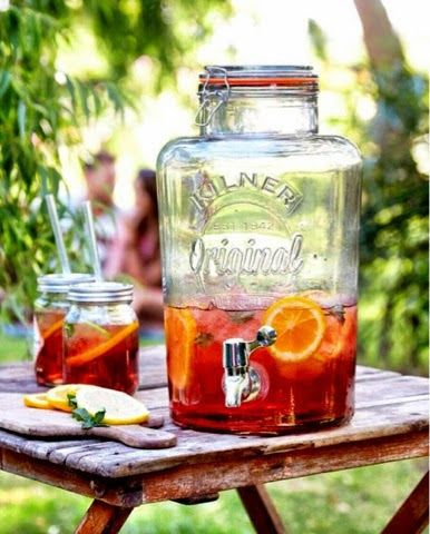 We just love Pimms at ANAHI Collection, the perfect summer drink. What better way to serve than put of our Kilner Drink Dispenser.