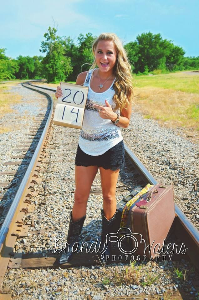 """Senior Pictures 2014 w/ chalk on the suitcase saying """"ASU or bust"""""""