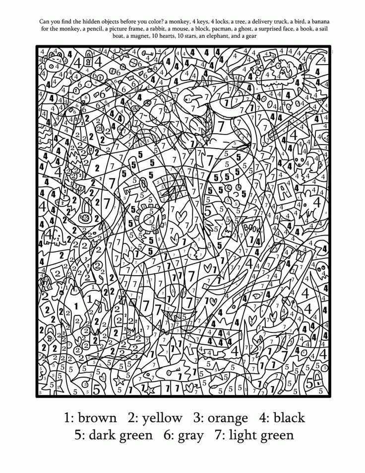 Printable Color By Number For Adults - Coloring Pages for Kids and ...