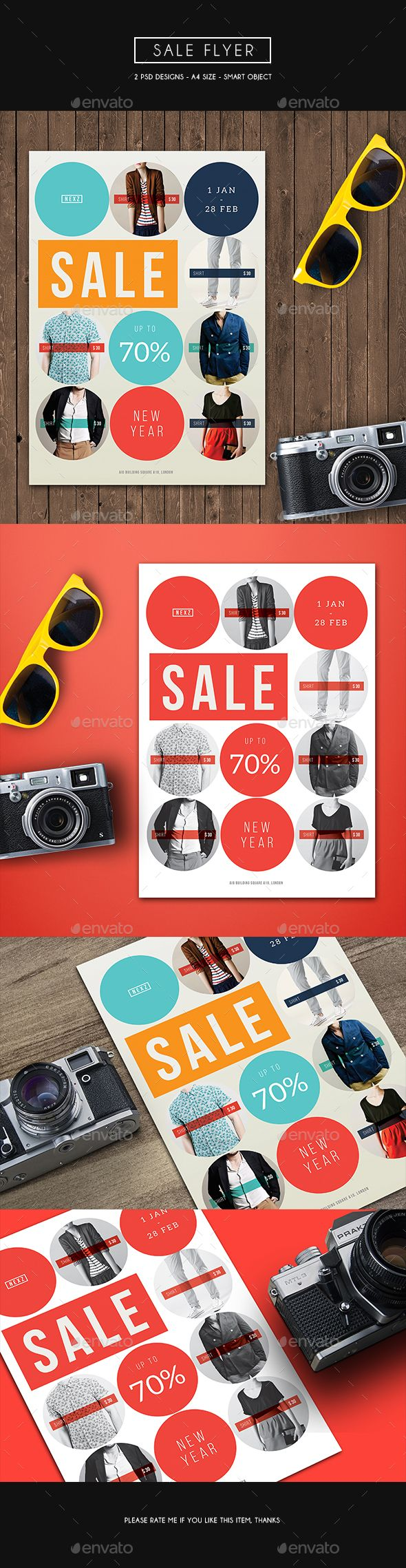 Sale Flyer  #template • Click here to download ! http://graphicriver.net/item/sale-flyer/15944033?s_rank=87&ref=pxcr
