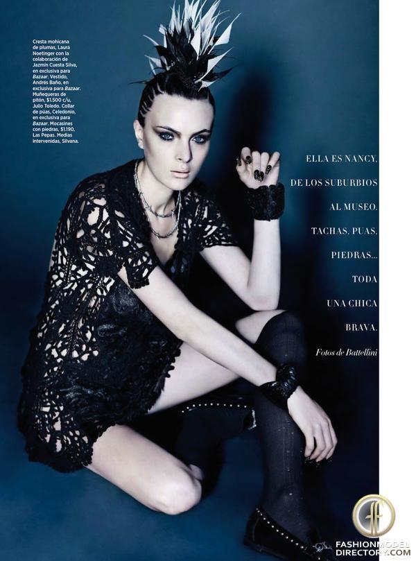 """Harper's Bazaar Argentina editorial """"Punk De Luxe"""" from April 2013"""